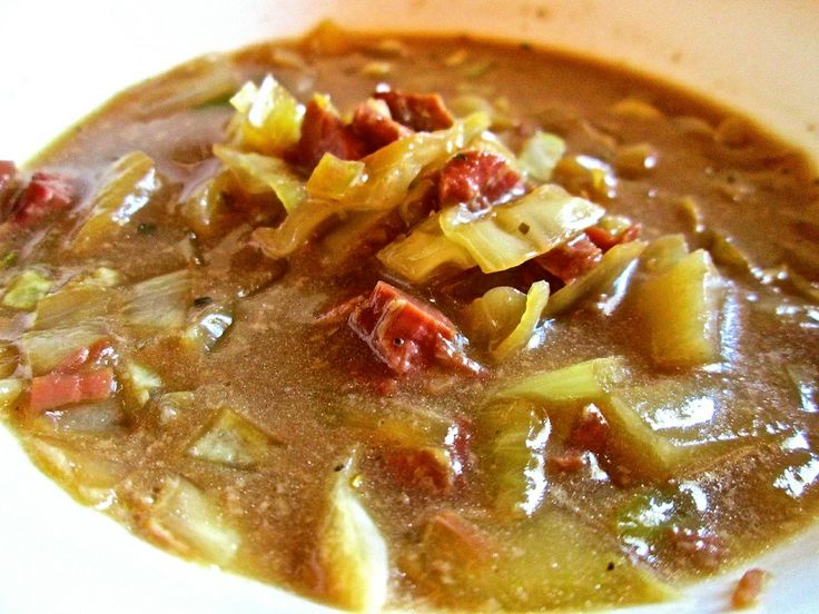 Corned Beef And Cabbage Soup Recipe For Two - Using up the corned beef ...