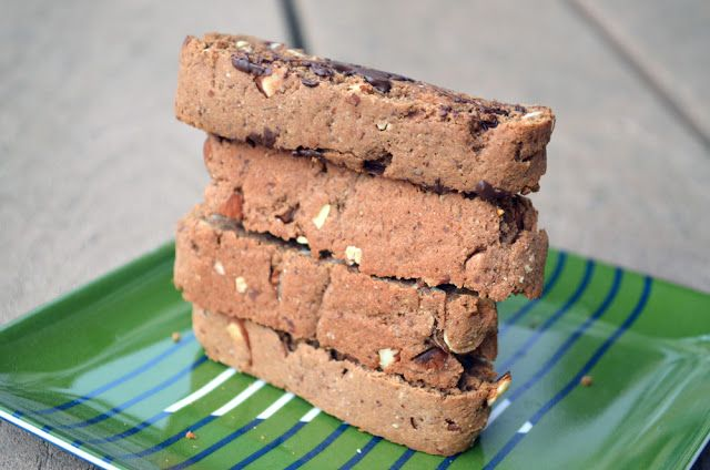 Gluten Free Chocolate Almond Biscotti - trying this with maple syrup ...