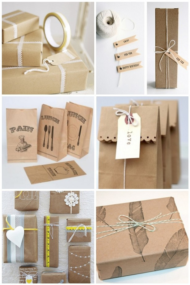 inspiration brown vintage packaging gift giving ideas pinterest