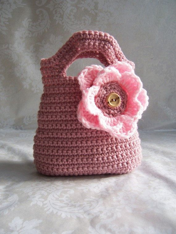 Crochet Purse for Girls, Crochet Purse, Pink Purse, Flower Purse, Pur ...