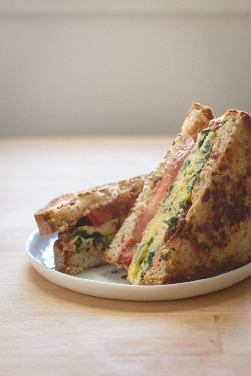 Kale Egg + Sun Dried Tomato Sandwich | Sandwich Things | Pinterest