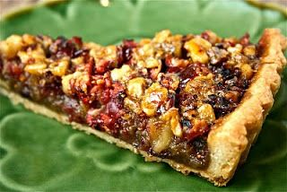 Cranberry Walnut Tart - try in tartlet/bite-size