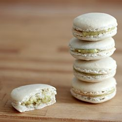 White Macarons with Pistachio Creme | French Macarons | Pinterest