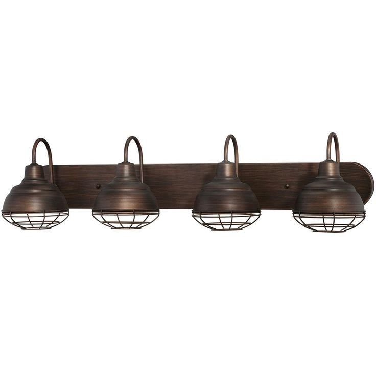 Industrial Cage 4 Light Vanity Light Available In 2 Colors