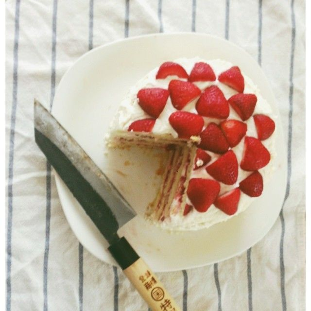 strawberry mascarpone cake | comer, beber y... | Pinterest