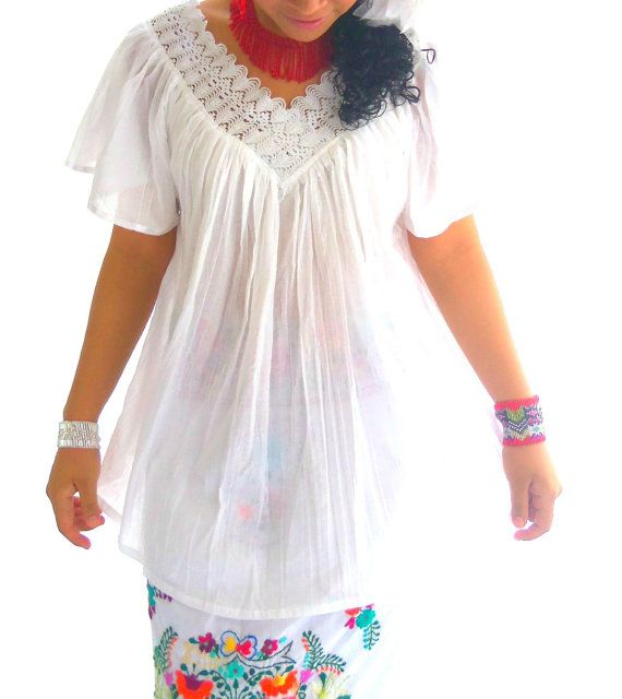 White Mexican Blouse 33