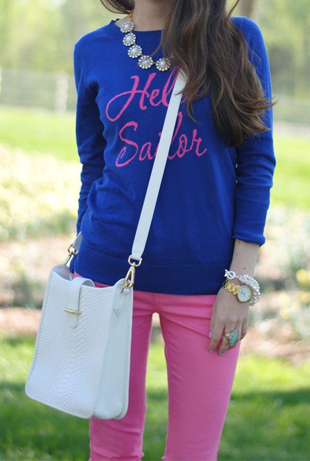 Sailor Style Sweater 31