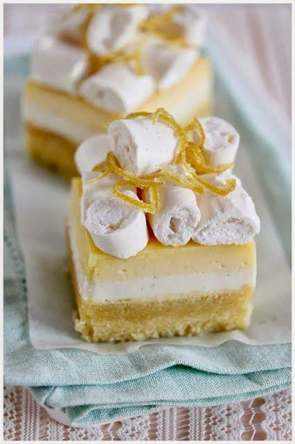 ... Lemon almond cake with vanilla buttermilk panna cotta and lemon curd