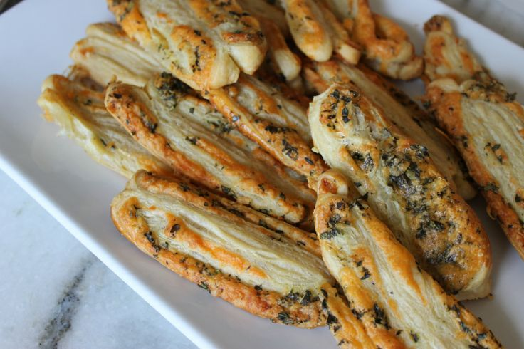 Appetizer Idea: Fresh Herb & Cheese #Palmiers