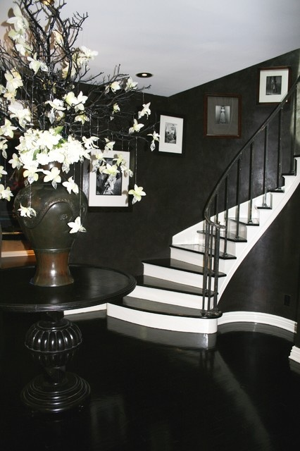 Best Black And White Palette Modern Staircase Staircase 400 x 300