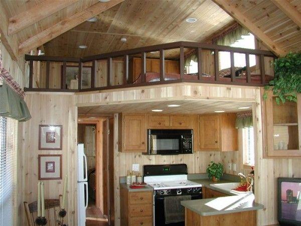 Park Model Tiny Cabin Interior Tiny Houses Pinterest