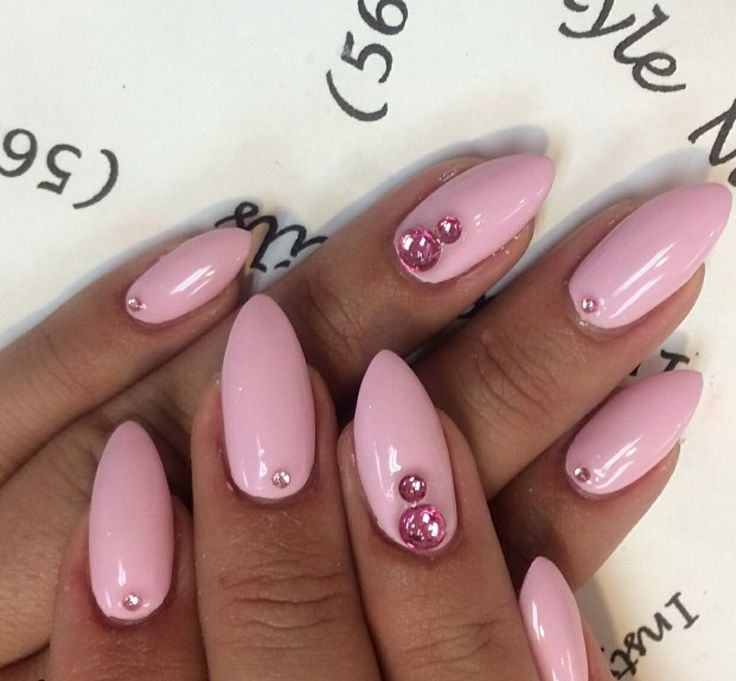 Almond Nail Art | nails | Pinterest