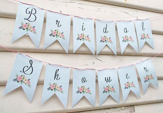 Vintage Floral Bridal Shower Banner INSTANT DOWNLOAD