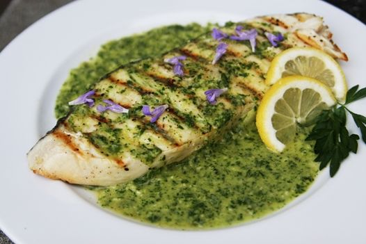Grilled Halibut with Chimichurri | Dishes With Fishes | Pinterest