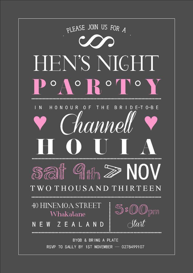 Hens Night invitation | Hens night | Pinterest