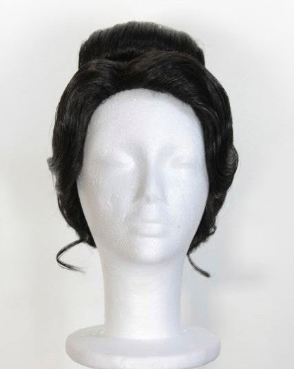 Dark Brunette Black Formal 'Tiana Inspired Updo Wig by PREPandPIN