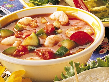 COLD SOUPS! Enjoy shrimp gazpacho and 96 more of the Easiest No-Cook ...
