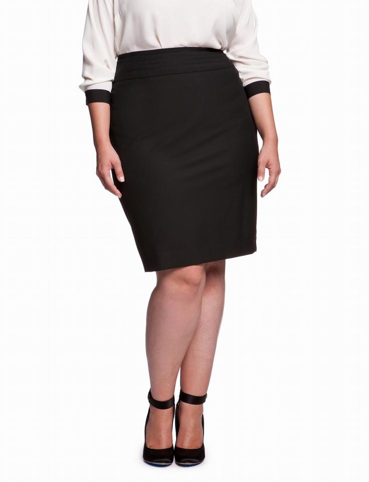 curvy fit essential pencil skirt plus size pencil skirts eloquii
