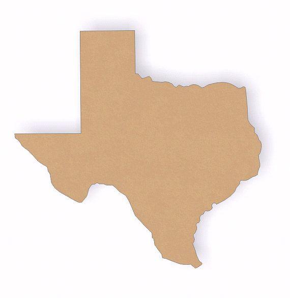 Texas wood cutout