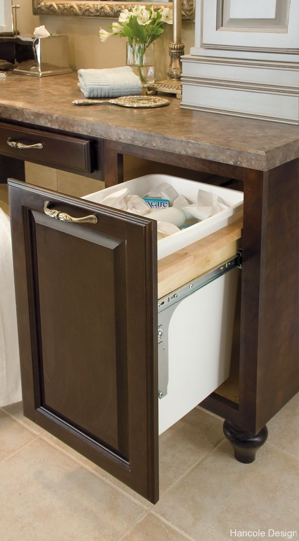 Built In Kitchen Trash Can For The Home Pinterest