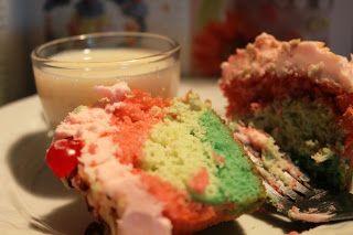Spumoni Cupcakes   Cupcakes!   Pinterest