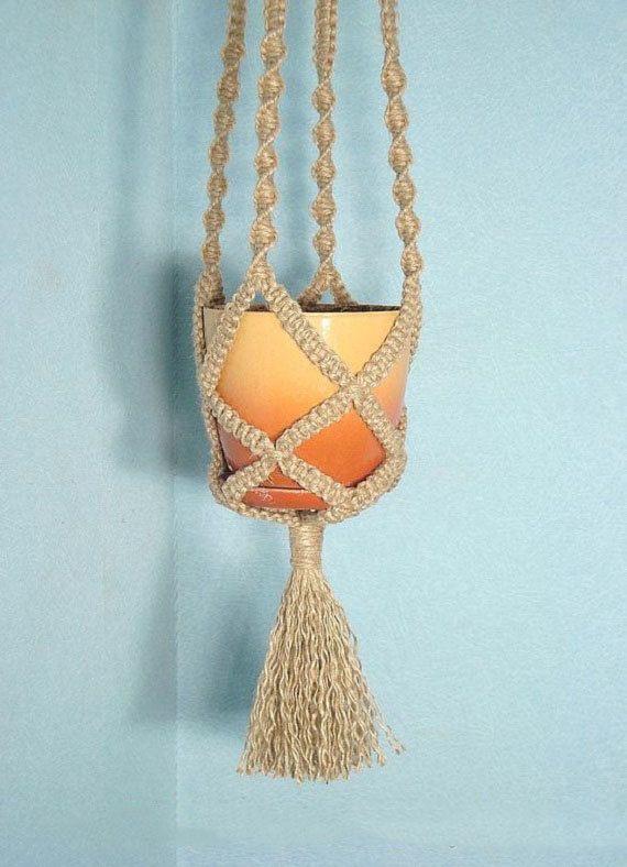 Макраме кашпо для цветов: схемы плетения и. - Pinterest