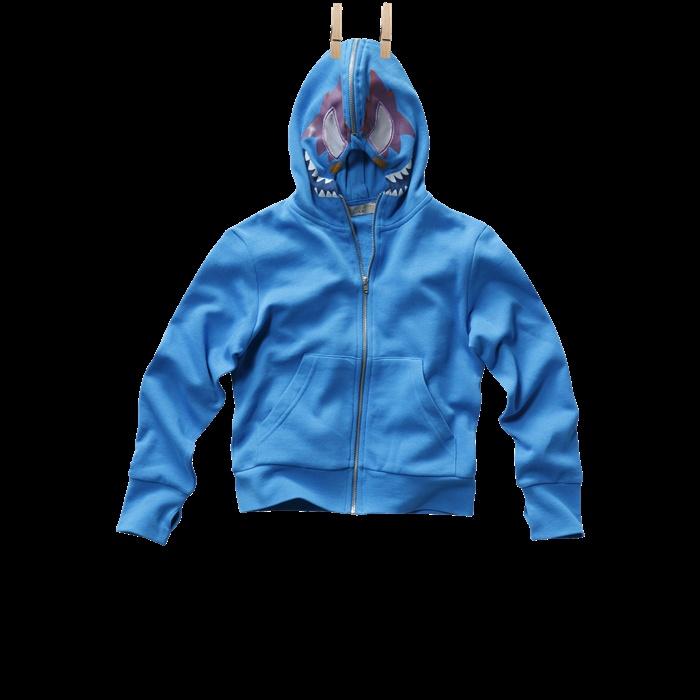 Bandit: boys striped hooded fleece cardigan, printed hood