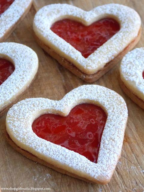 Linzer Heart Cookies | Leslie | Pinterest