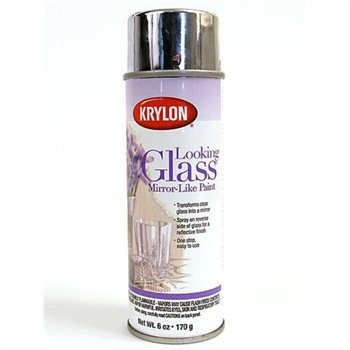 mirror with krylon looking glass mirror like paint simply spray. Black Bedroom Furniture Sets. Home Design Ideas