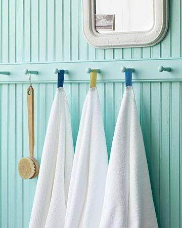 towel hooks and beadboard