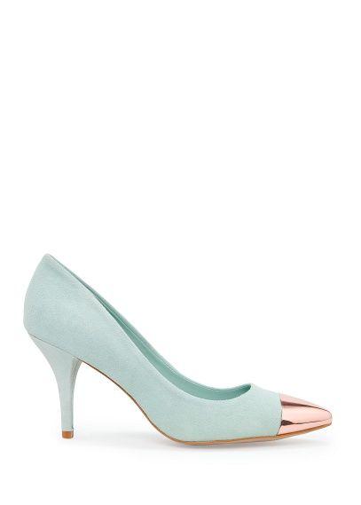 TOUCH - Metallic cap toe stilettos