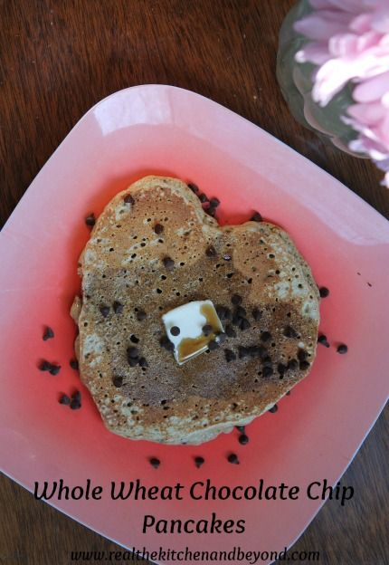 Whole Wheat Chocolate Chip Pancakes ~light and fluffy you can't eat ...