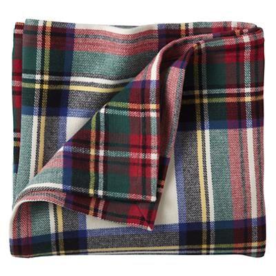 Tartan Throw Blanket. 100% cotton flannel.