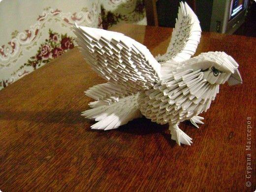 Схема модульного оригами голубей