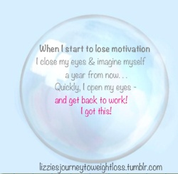 When I lose motivation..