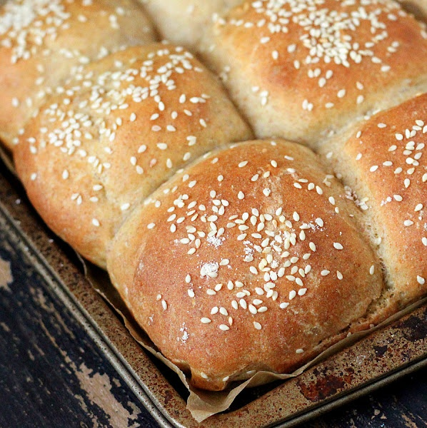 Light Rye Burger Buns Recipe — Dishmaps