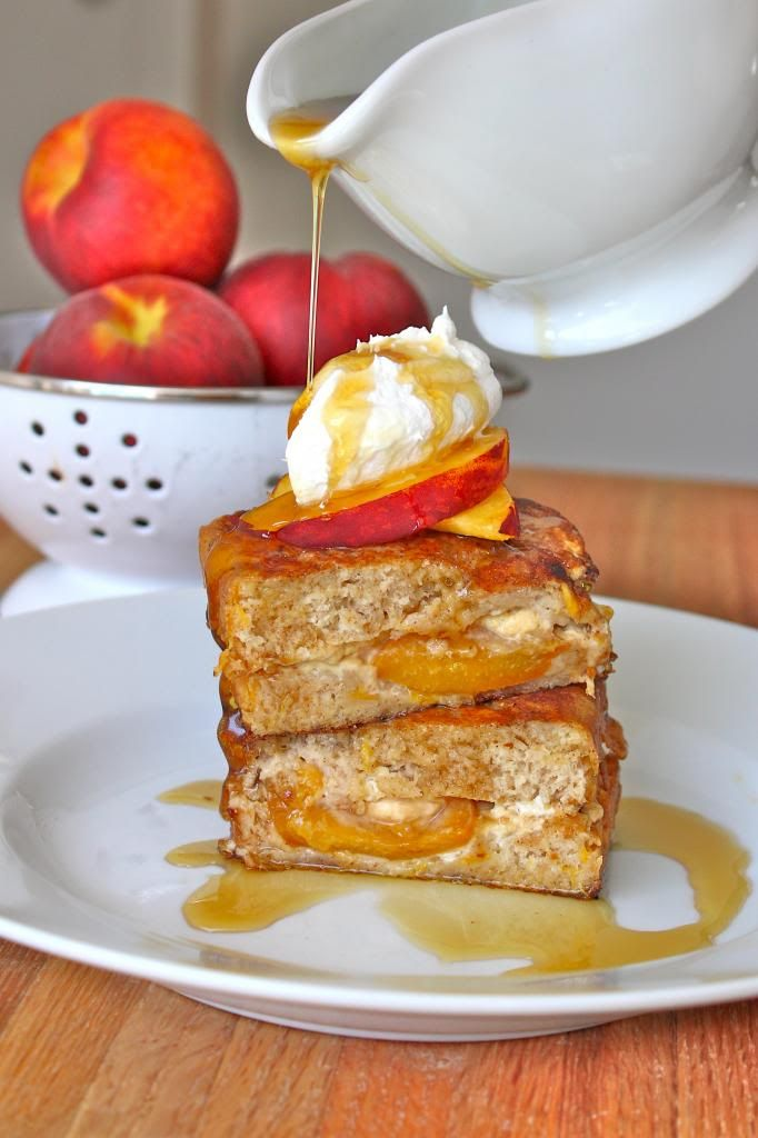 The BakerMama | Gold Medal - STUFFED PEACH BREAD FRENCH TOAST