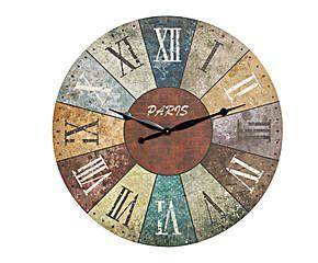 Reloj de pared en madera relojes de pared pinterest - Relojes vintage de pared ...