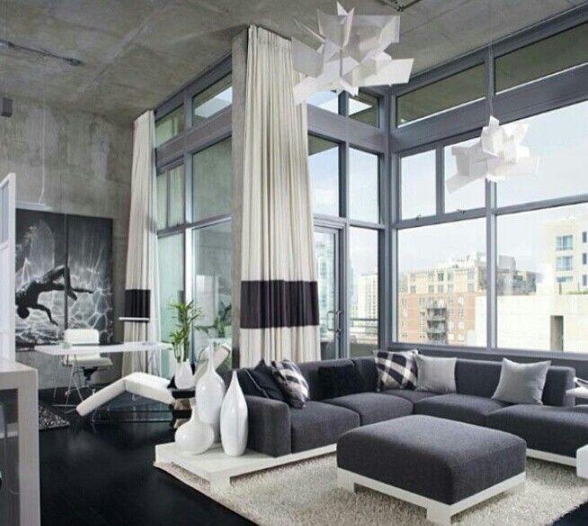interior Grey white decor
