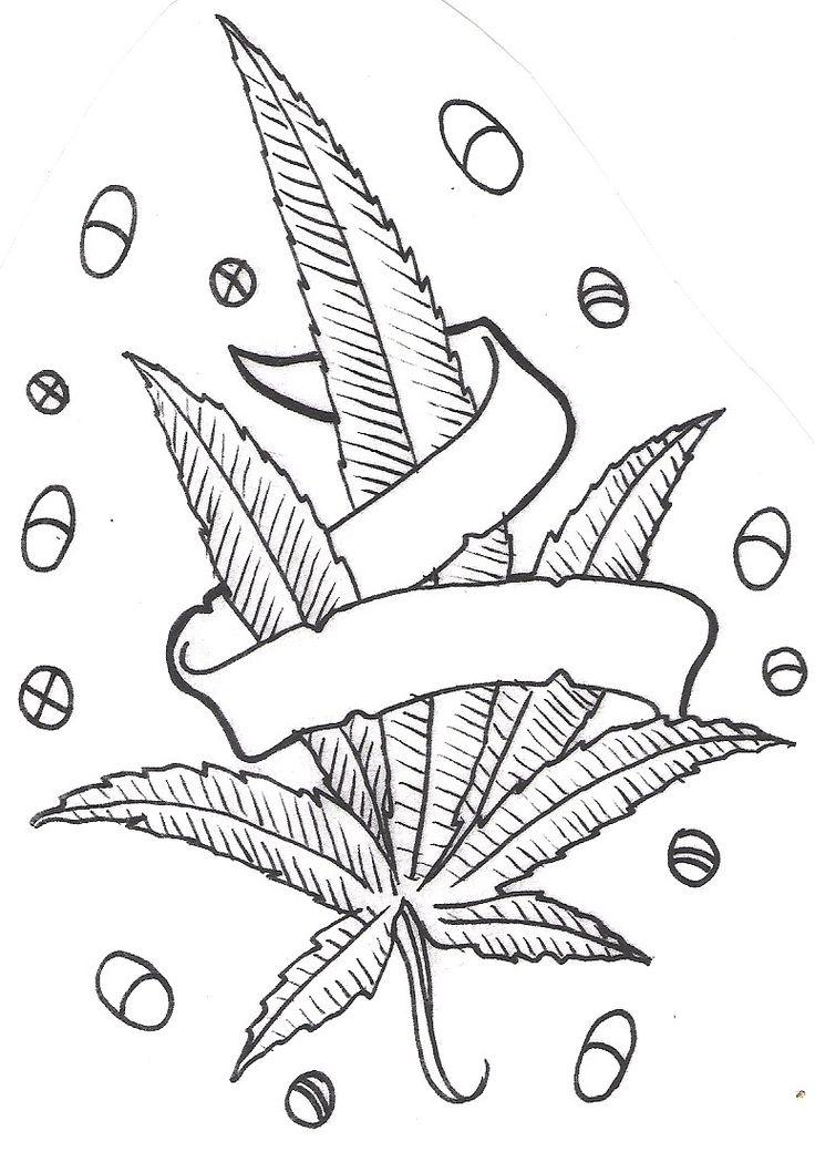 Marijuanna Leaf Coloring Sheets For Kids Marijuana