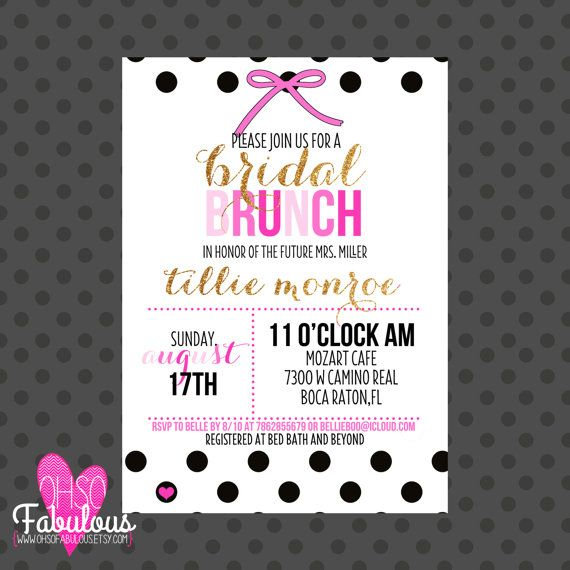 Kate Spade Inspired Bridal Shower Brunch Invitation #wedding # ...