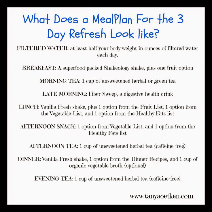 Refresh 3-Day Meal Plan