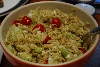 Greek Orzo with Grilled Shrimp and Mustard-Dill Vinaigrette - Great ...