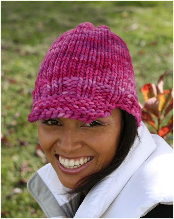Loom Knitting Beanie Patterns : Brimmed Beanie - Loom Knitting Knit Picky Pinterest