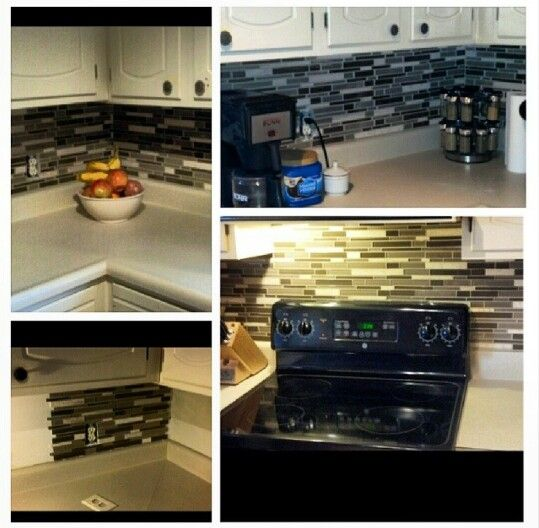 DIY backsplash home depot 12x12 tile