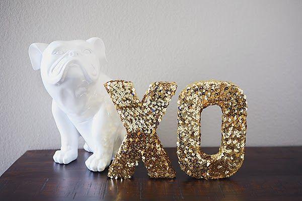 DIY million dollar sequin letters