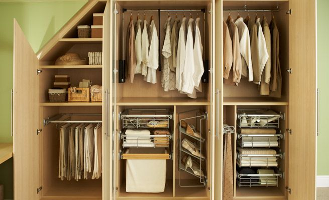closets under stairs.