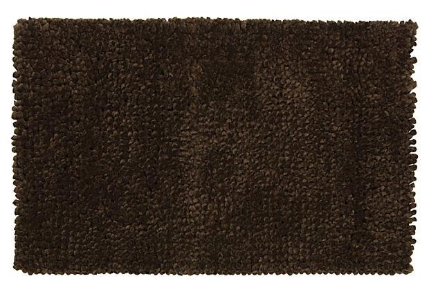 Shag Rug Dark Brown