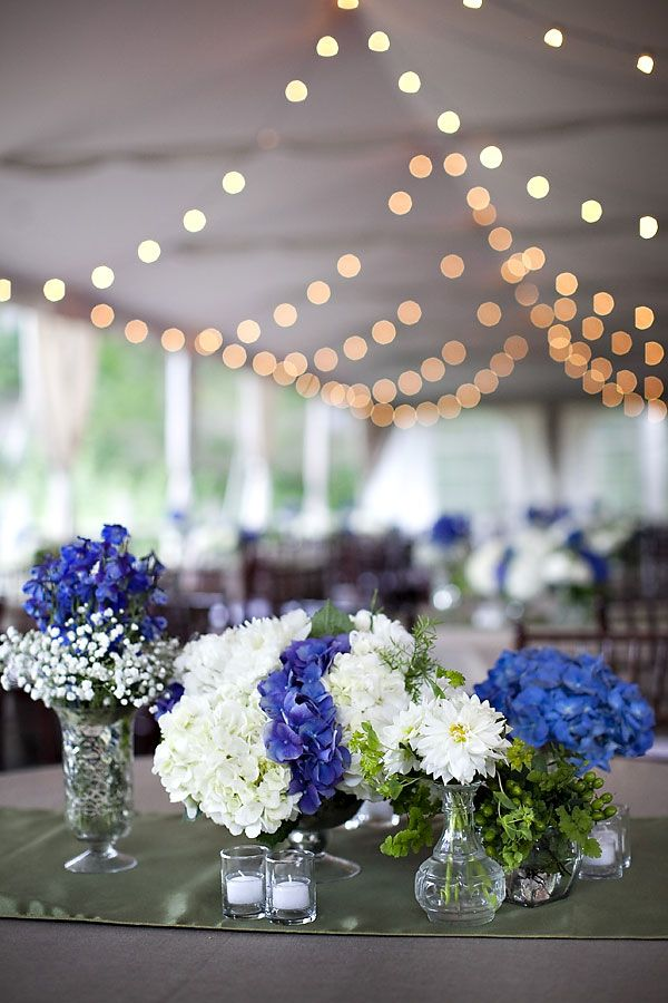 Blue and white centerpieces - Blue and white centerpieces ...