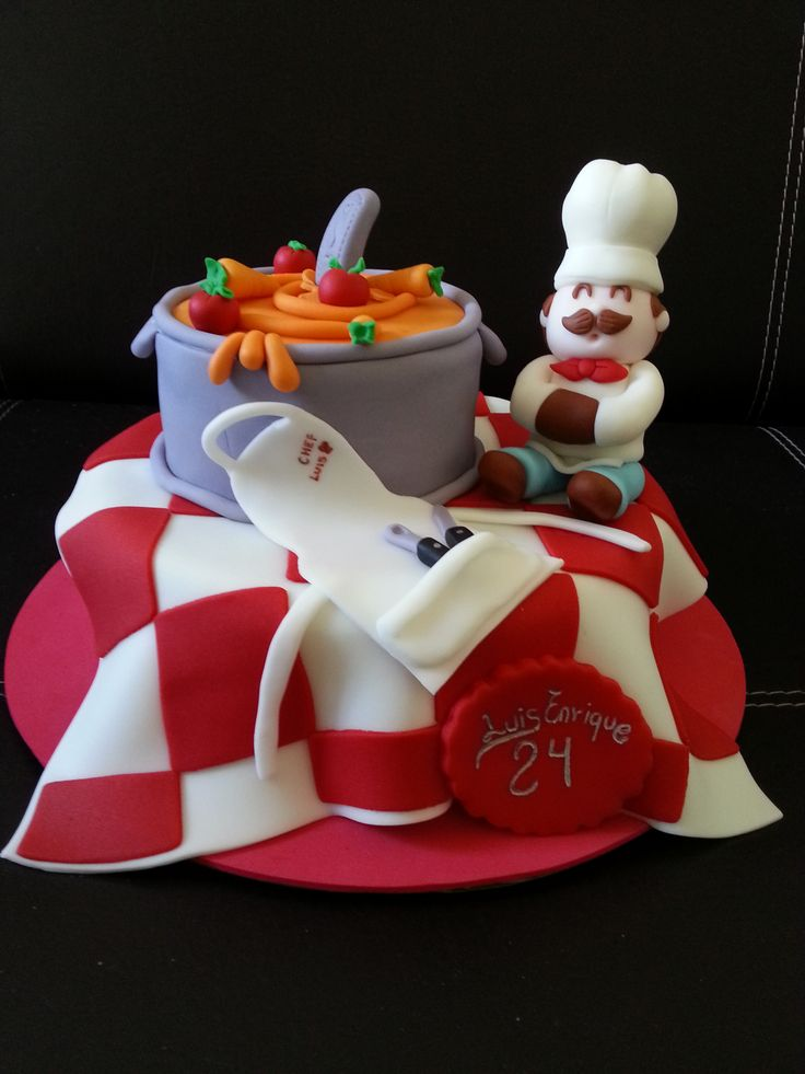 chef fondant cake cake ideas Pinterest